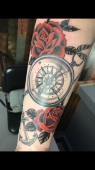 Compass with roses