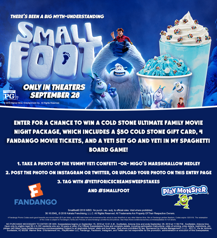 Cold Stone Smallfoot Giveaway