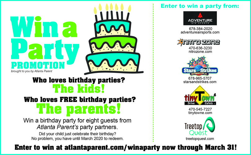 Win a Free Birthday Party 2019