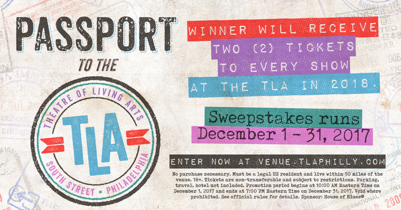 The Passport to The TLA Sweepstakes